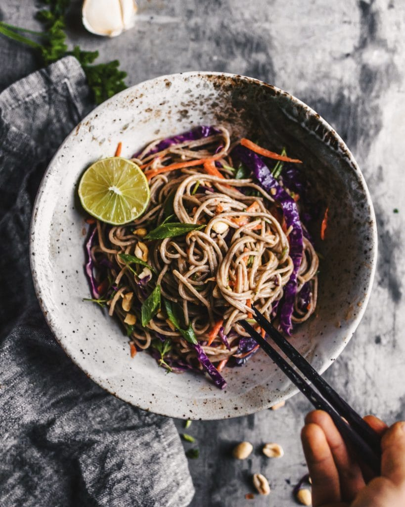 Soba Noodle Salad With Spicy Sesame Sauce The Plant Based Wok